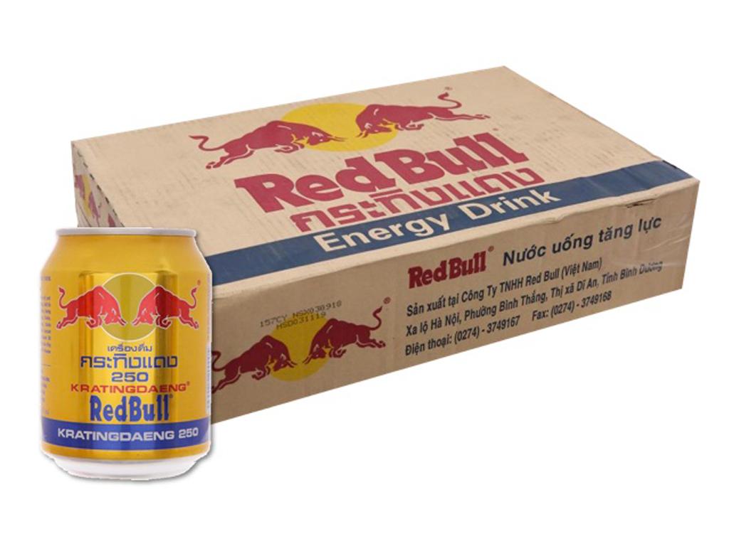 Thùng 24 lon nước tăng lực Redbull 250ml 1