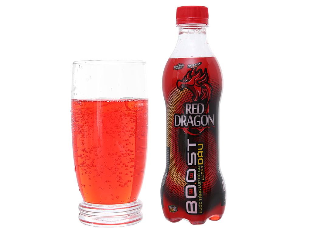 Thùng 24 chai nước tăng lực Rồng Đỏ hương dâu 330ml 5
