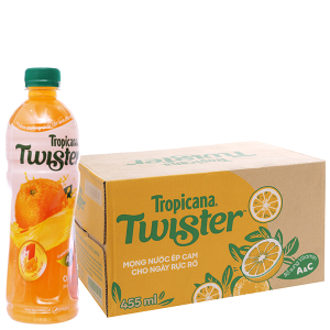 24 chai nước cam ép Twister Tropicana 455ml