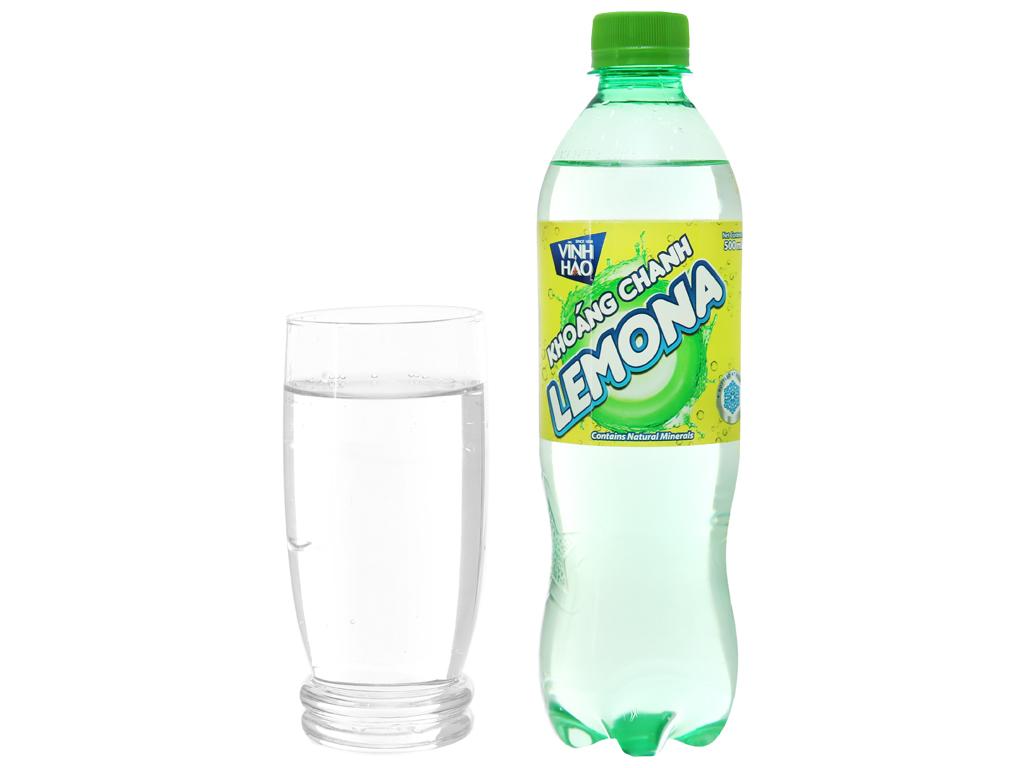 Nước khoáng có ga Vĩnh Hảo Lemona vị chanh 500ml 5