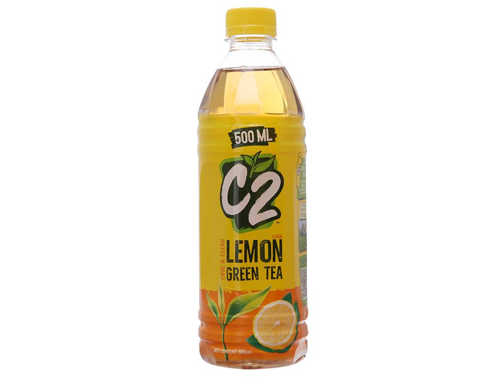 Thùng 24 chai trà xanh C2 hương chanh 500ml 2
