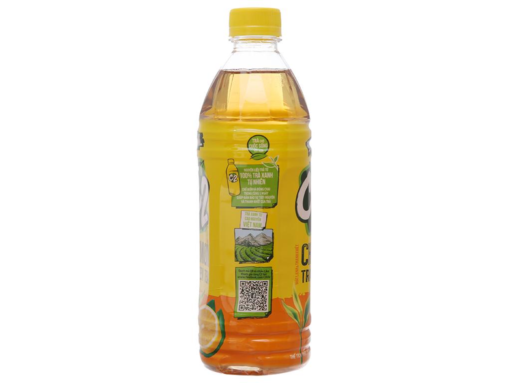 Thùng 24 chai trà xanh C2 hương chanh 500ml 3