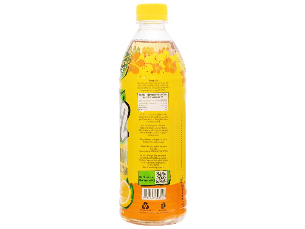 Thùng 24 chai trà xanh C2 hương chanh 500ml 10