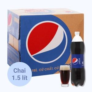 Thùng 12 chai nước ngọt Pepsi Cola 1.5 lít
