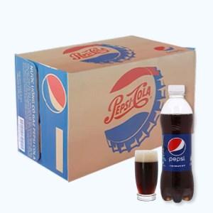 Thùng 24 chai nước ngọt Pepsi Cola 390ml
