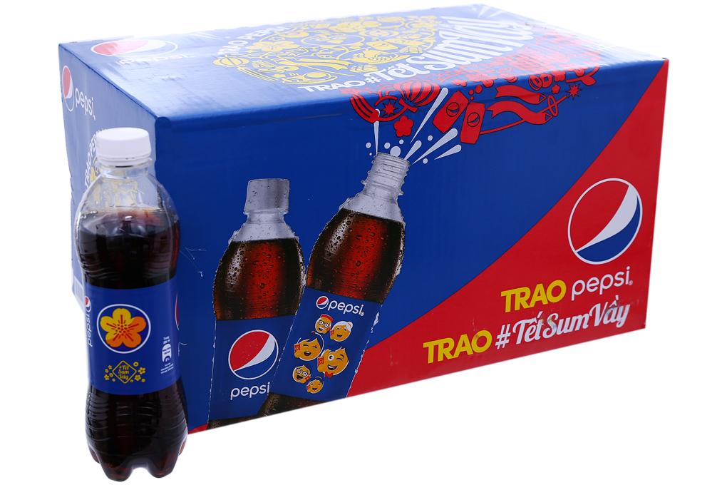 Nước ngọt Pepsi Cola chai 390ml (thùng 24 chai)