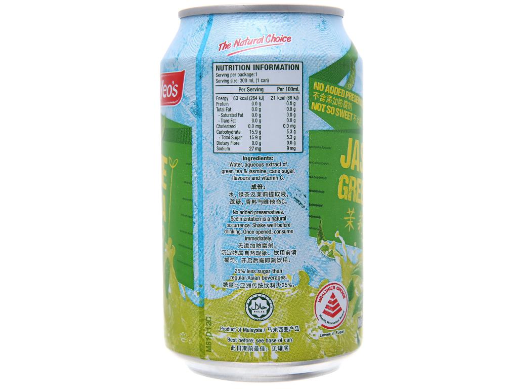 Trà xanh Yeo's hương lài 300ml 2