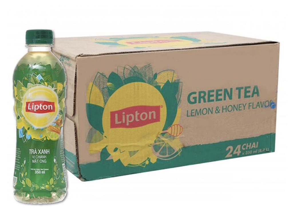 Thùng 24 chai trà xanh Lipton vị chanh mật ong 350ml 1