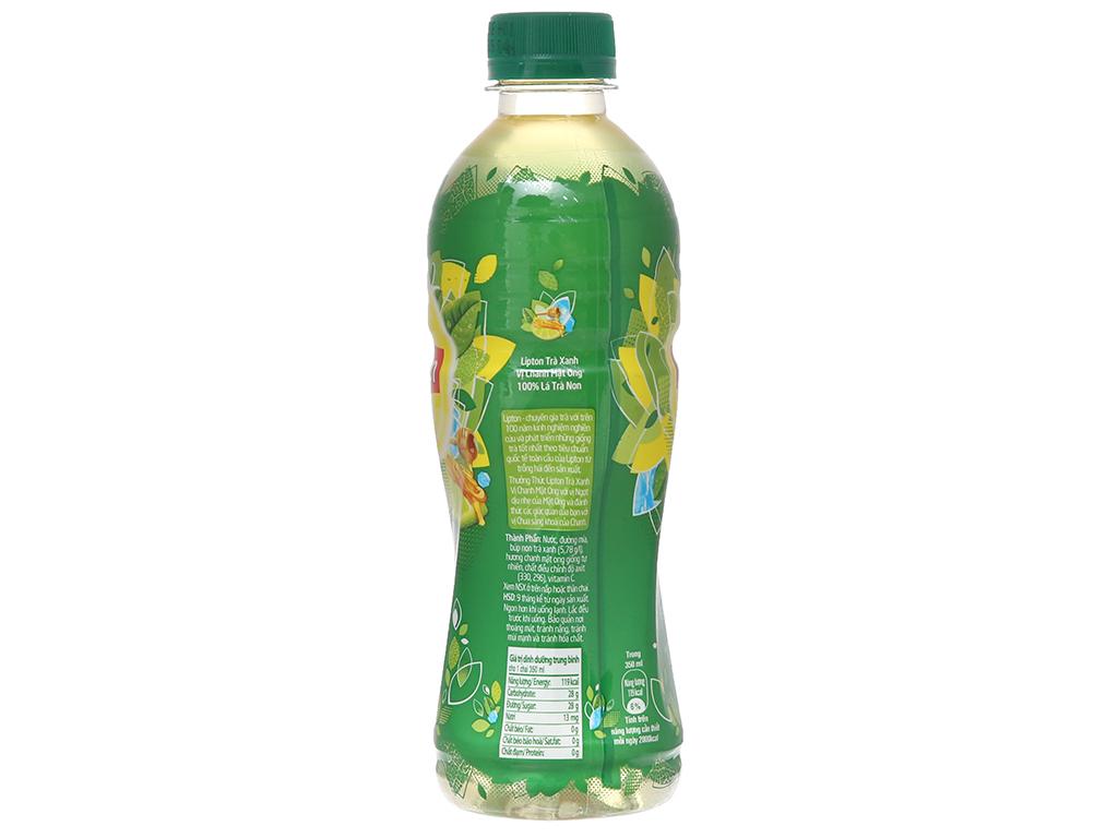Trà xanh Lipton vị chanh mật ong 350ml 2