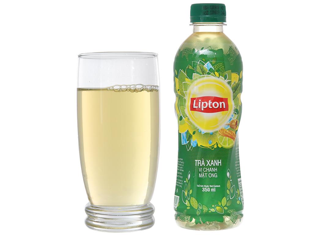 Trà xanh Lipton vị chanh mật ong 350ml 3