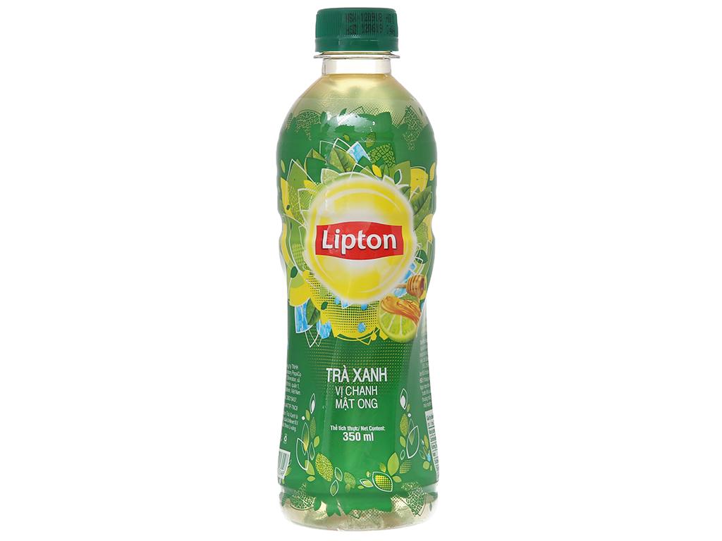 Trà xanh Lipton vị chanh mật ong 350ml 1