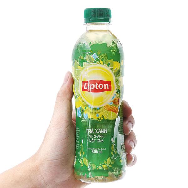 Trà xanh Lipton vị chanh mật ong 350ml