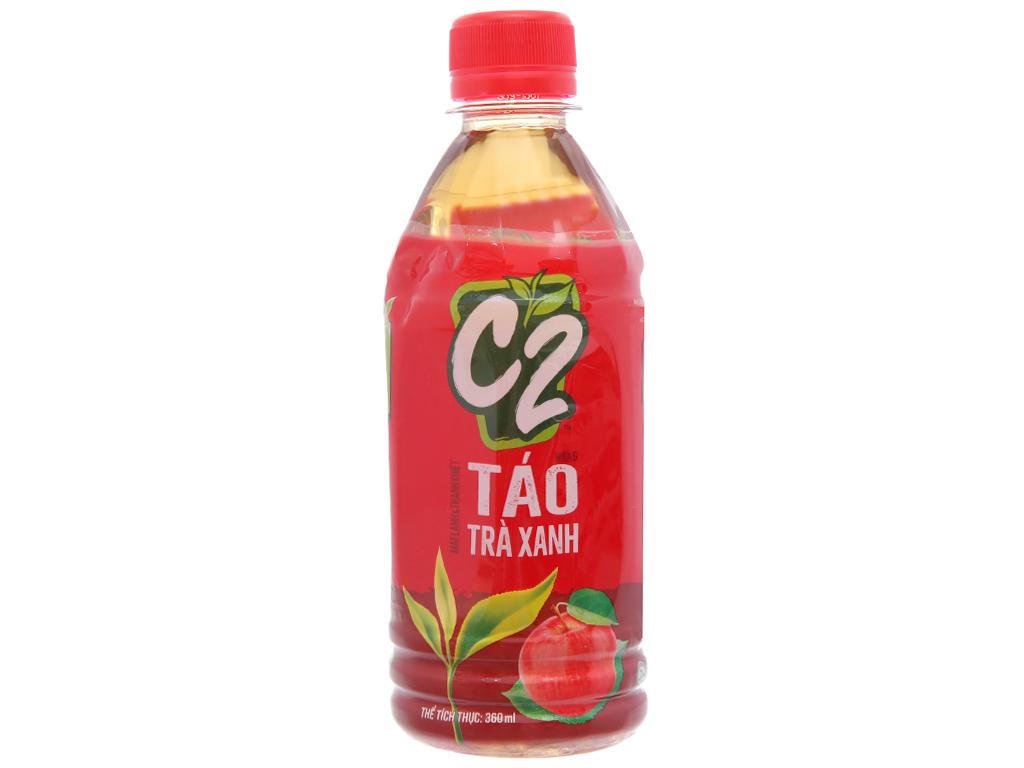 Thùng 24 chai trà xanh C2 hương táo 360ml 2