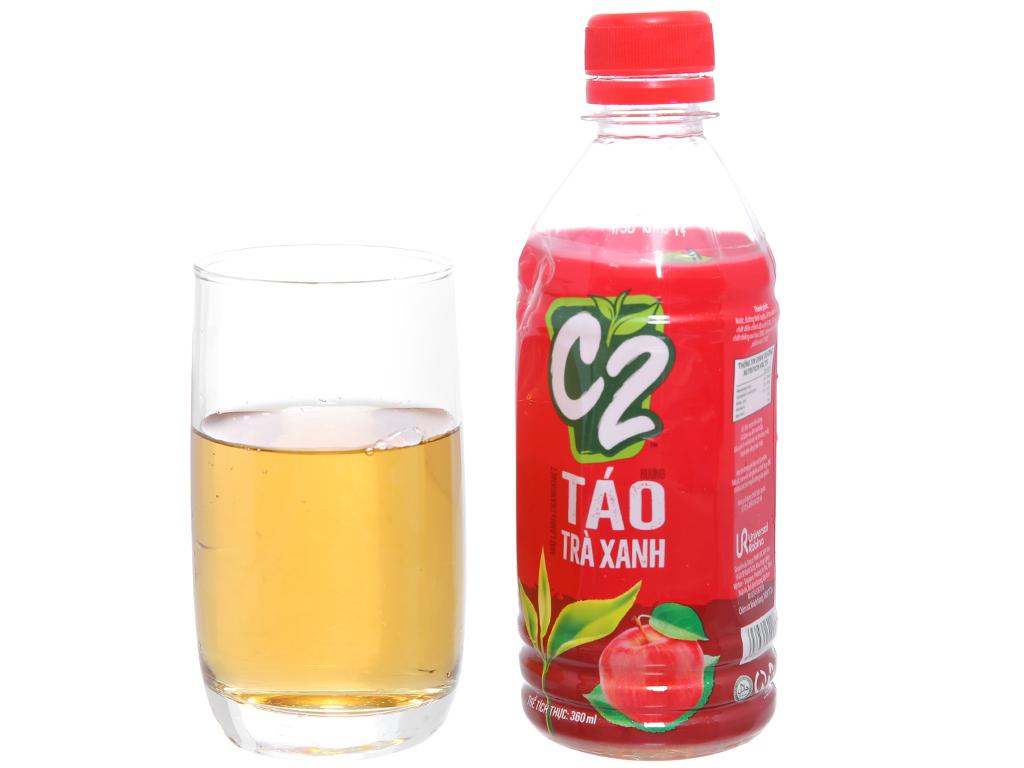Thùng 24 chai trà xanh C2 hương táo 360ml 4