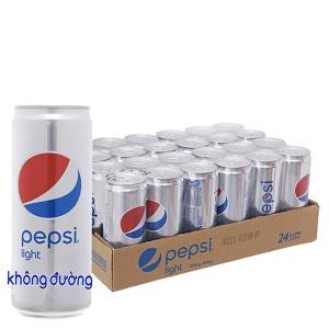 24 lon nước ngọt Pepsi Light 330ml