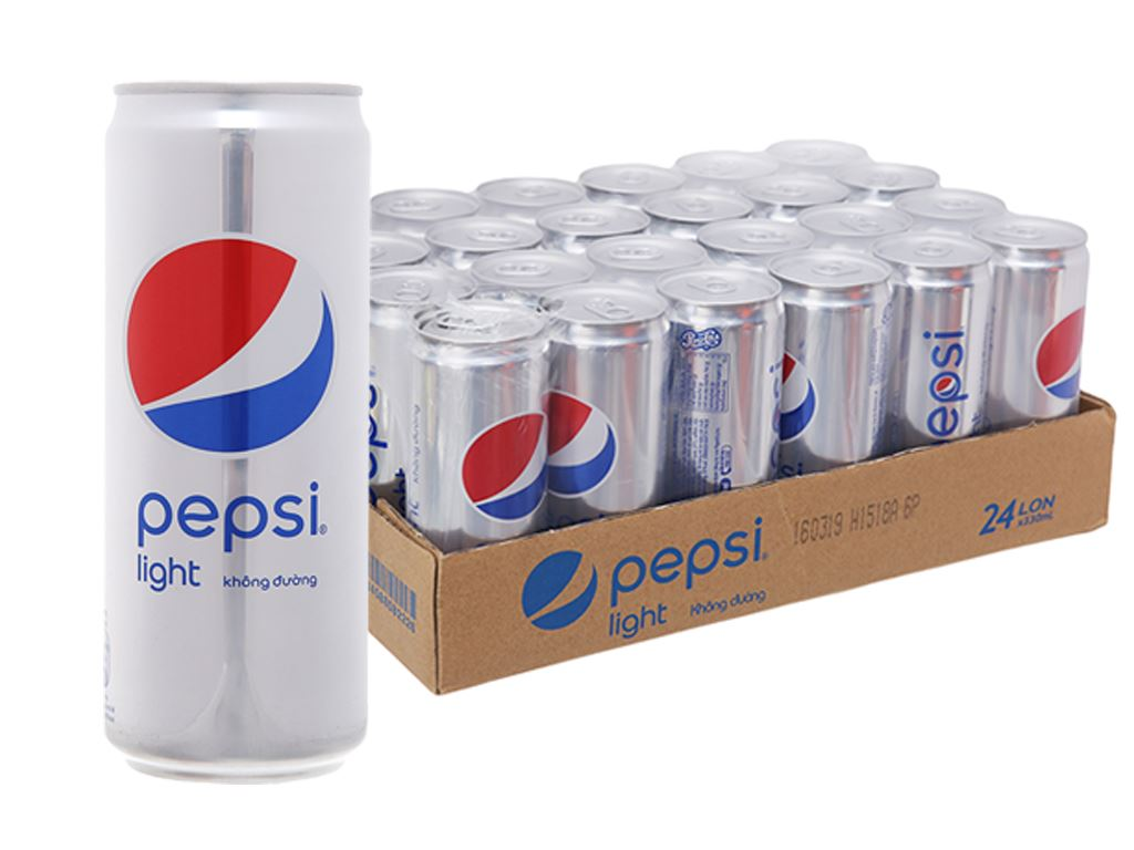 24 lon nước ngọt Pepsi Light 330ml 2