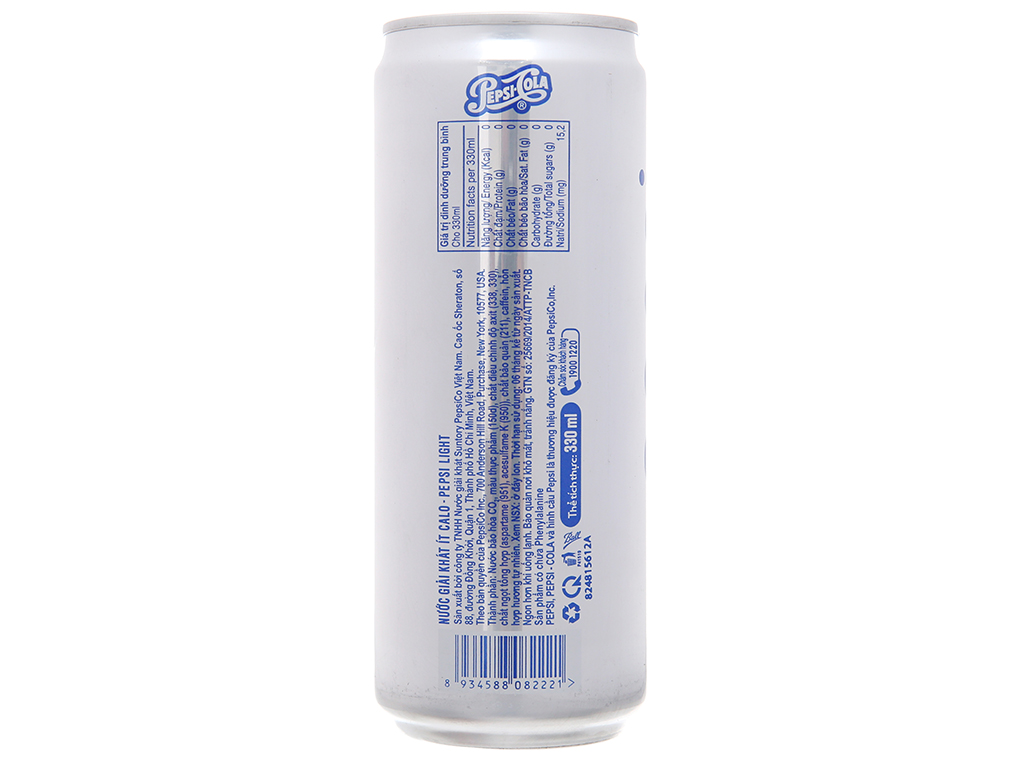 24 lon nước ngọt Pepsi Light 330ml 4