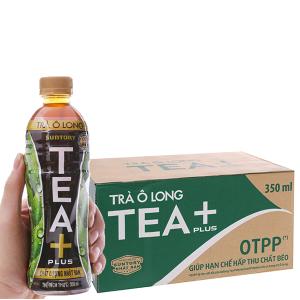 Thùng 24 chai trà ô long Tea Plus 350ml