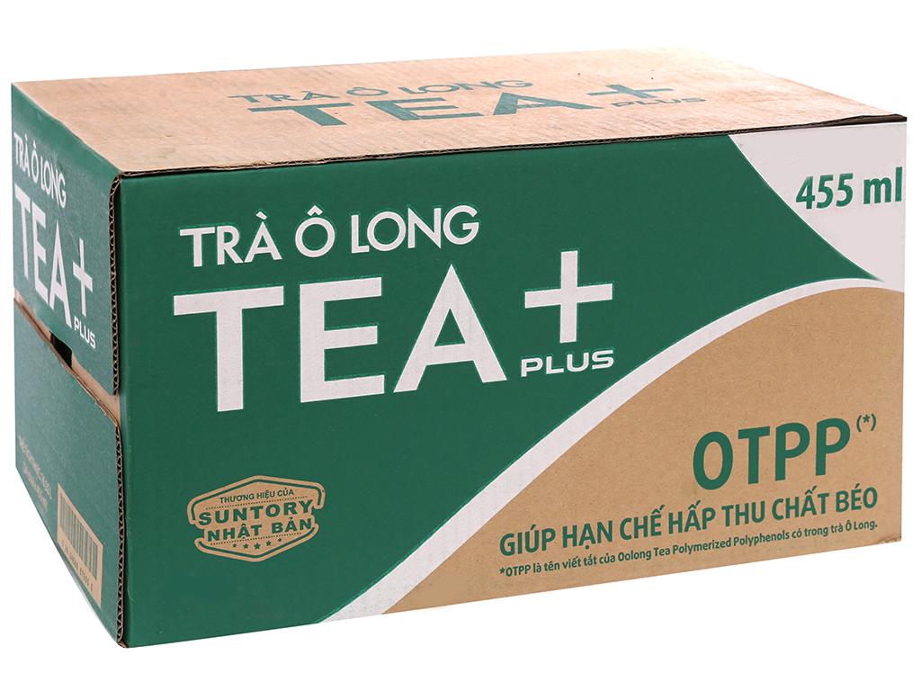 Thùng 24 chai trà Ô Long Tea Plus 455ml 1