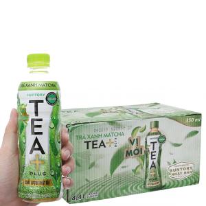 Thùng 24 chai trà xanh matcha Tea Plus 350ml