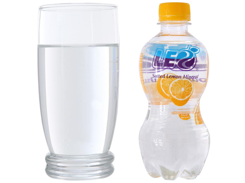 Nước khoáng có ga Leo vị chanh muối 350ml 3