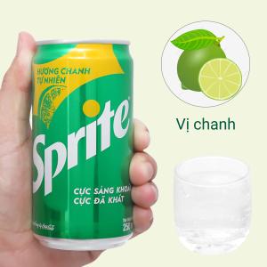 Nước ngọt Sprite hương chanh 250ml