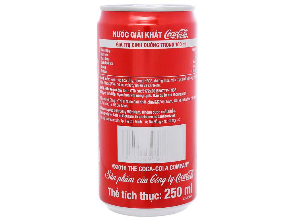 Nước ngọt Coca Cola 250ml 9