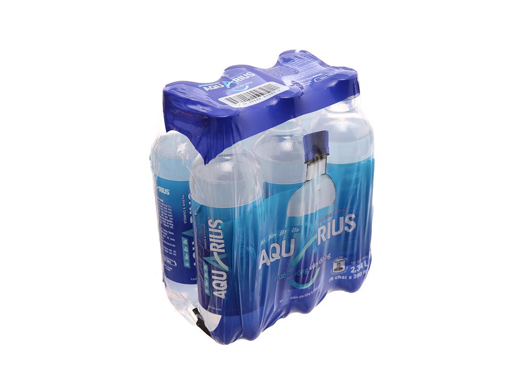 6 chai nước uống vận động Aquarius 390ml 1