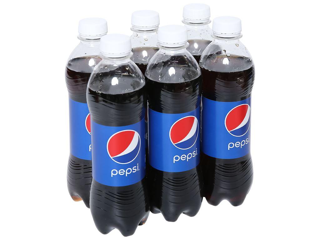 6 chai nước ngọt Pepsi Cola 390ml 1