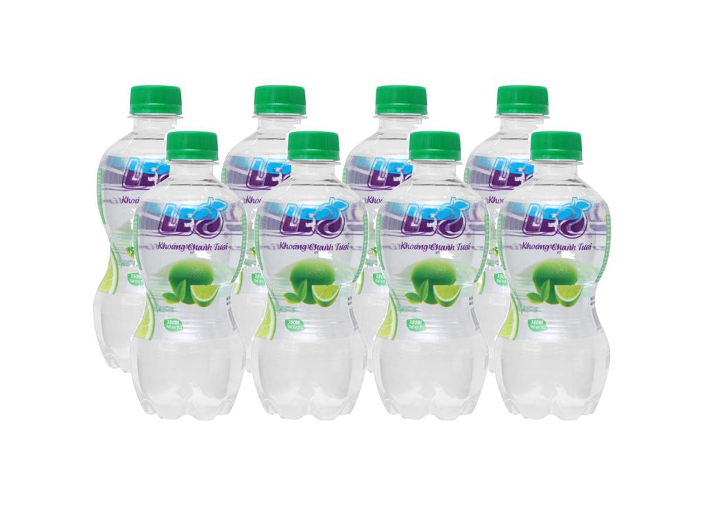 8 chai nước khoáng có ga Leo vị chanh 350ml 1