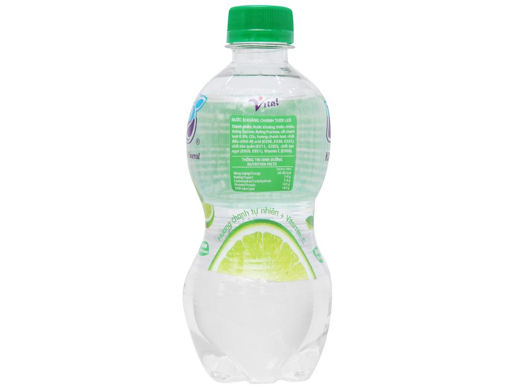 8 chai nước khoáng có ga Leo vị chanh 350ml 3