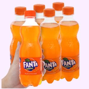 6 chai nước ngọt Fanta hương cam 390ml