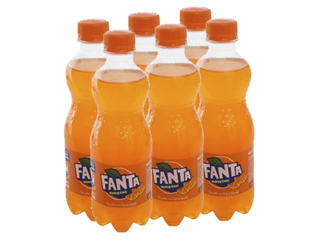 6 chai nước ngọt Fanta vị cam 390ml 1