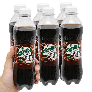 6 chai nước ngọt Mirinda hương xá xị 390ml