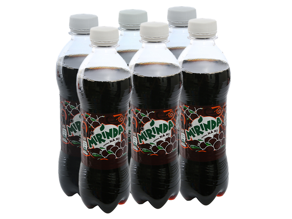 6 chai nước ngọt Mirinda hương xá xị 390ml 1