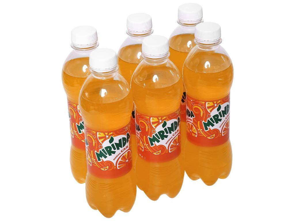 6 chai nước ngọt Mirinda hương cam 390ml 1