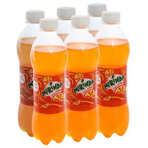 6 chai nước ngọt Mirinda vị cam 390ml
