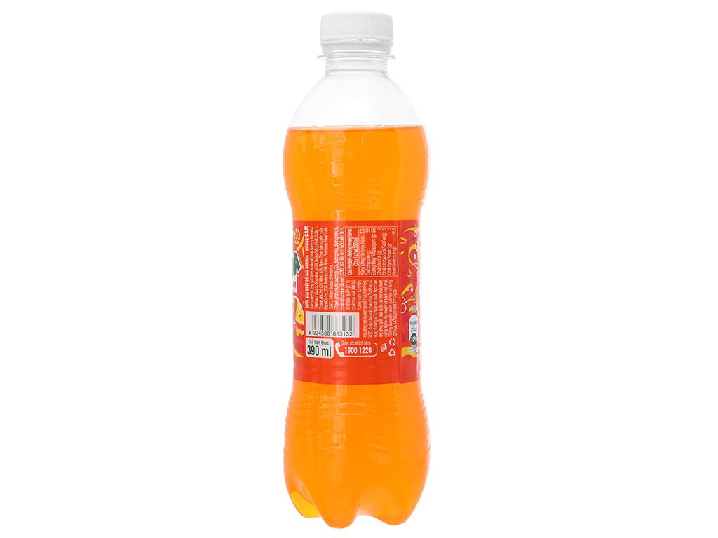 6 chai nước ngọt Mirinda hương cam 390ml 4