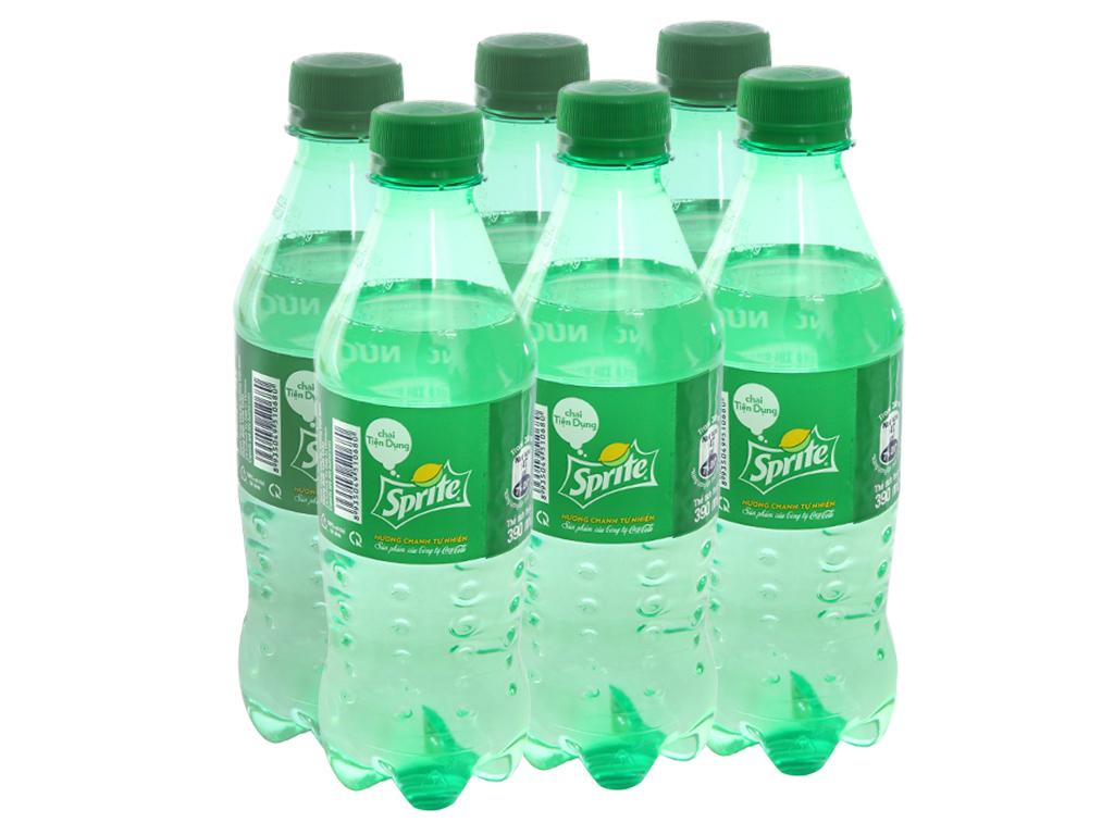 6 chai nước ngọt Sprite vị chanh 390ml 1