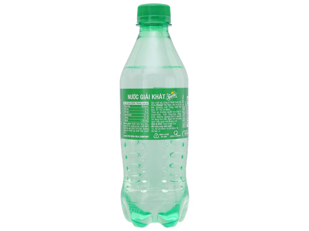 6 chai nước ngọt Sprite vị chanh 390ml 3