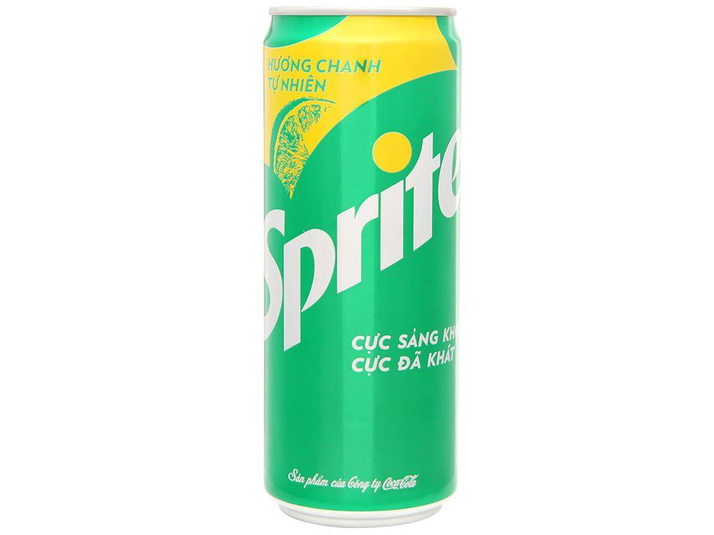 Nước ngọt Sprite hương chanh 330ml 4