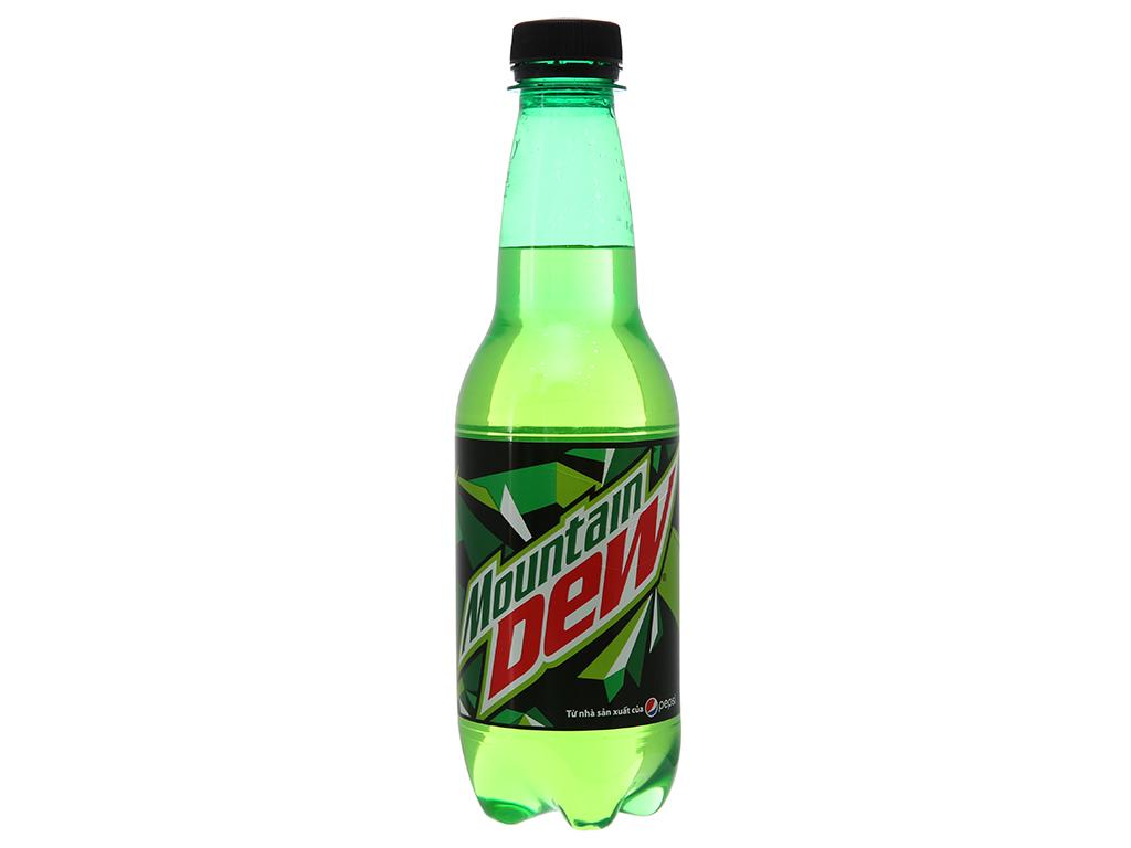 Thùng 24 chai nước ngọt Mountain Dew 390ml 2