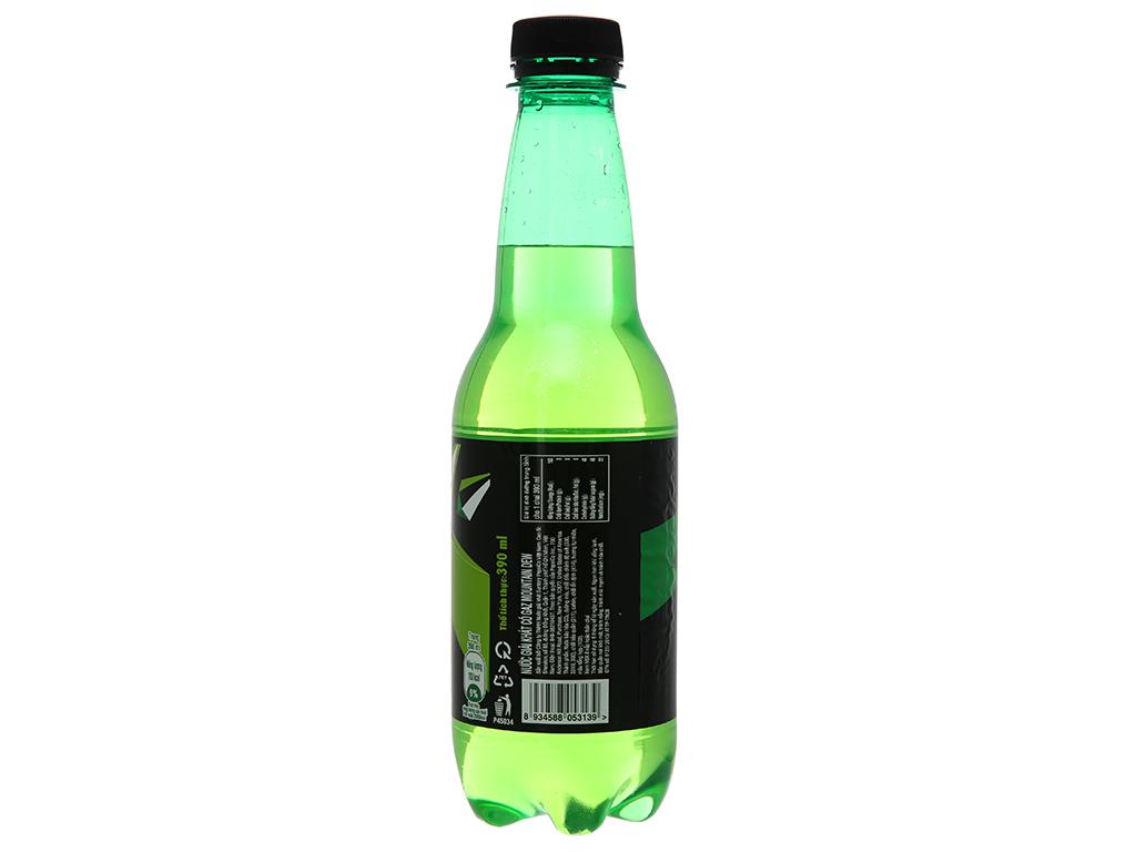 Thùng 24 chai nước ngọt Mountain Dew 390ml 3