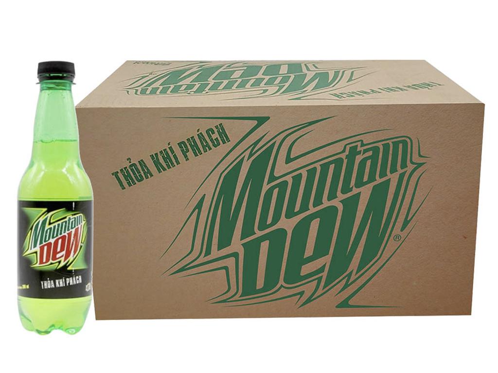 Thùng 24 chai nước ngọt Mountain Dew 390ml 1