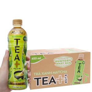 Thùng 24 chai trà xanh matcha Tea Plus 455ml
