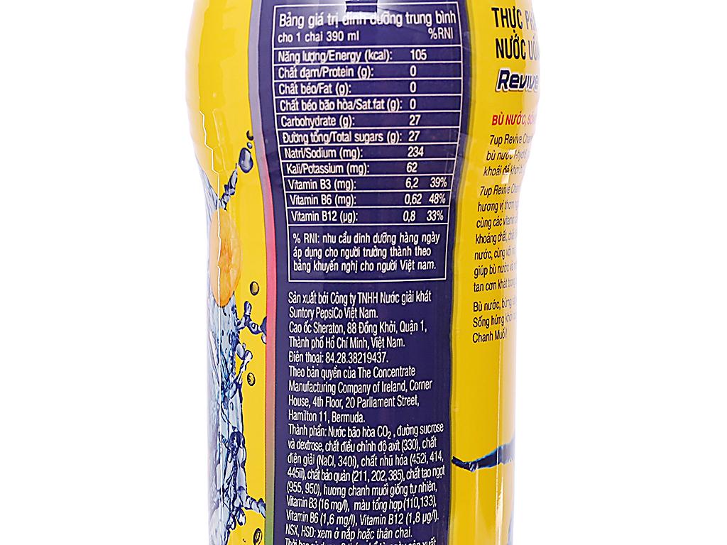Thùng 24 chai Revive vị chanh muối 390ml 4