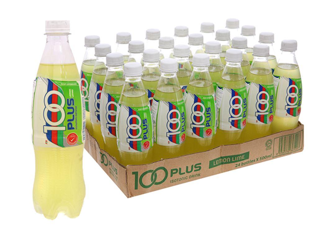 Thùng 24 chai nước ngọt 100Plus vị chanh 500ml 2