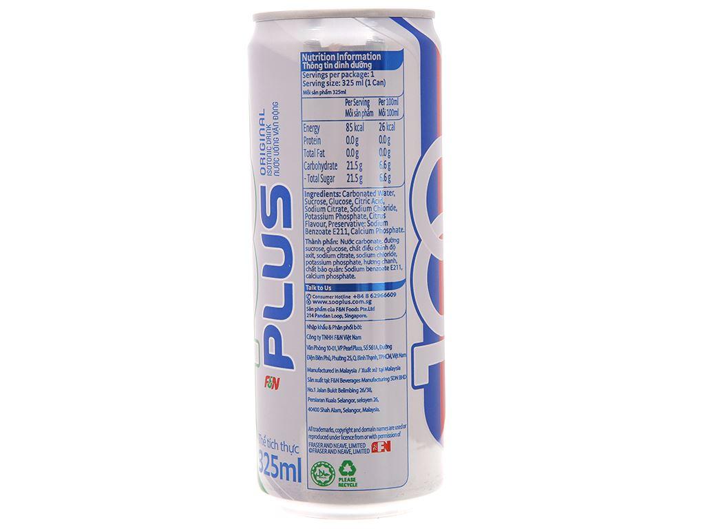 Thùng 24 lon nước ngọt 100Plus muối khoáng 325ml 4