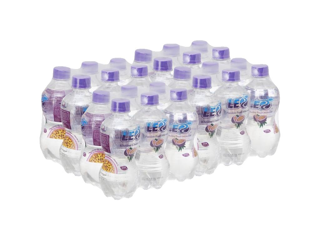 Thùng 24 chai nước khoáng có ga Leo vị chanh dây 350ml 1