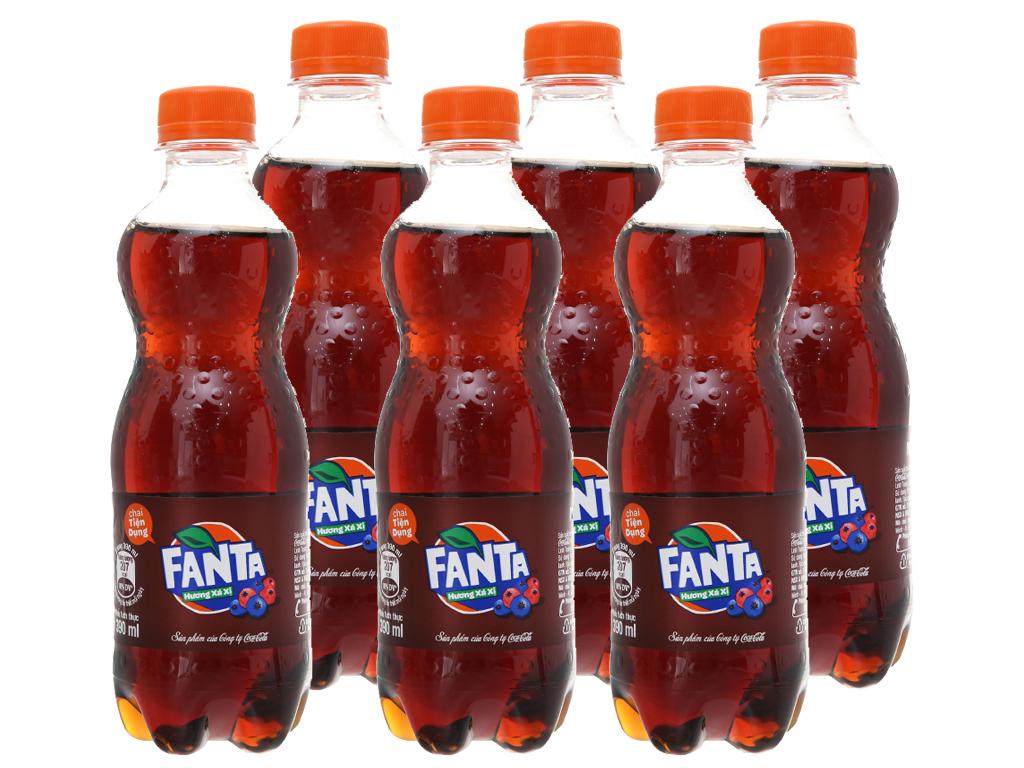 6 chai nước ngọt Fanta hương sá xị 390ml 2